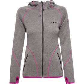 axant Anden Fleece Jacke Damen stone grey/fuchsia red